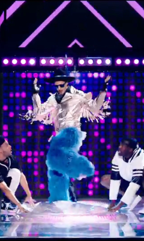 Andy Samberg with Lulie Vision Furry Chaps Pants in Popstar: Never Stop Never Stopping