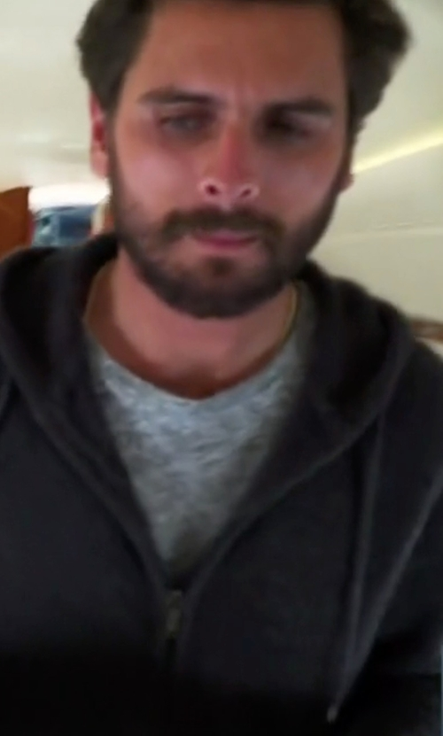 Scott Disick with Brunello Cucinelli Zip-Front Knit Hoodie in Keeping Up With The Kardashians