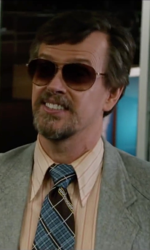 Dylan Baker with Ray-Ban Lightweight Aviator Sunglasses in Anchorman 2: The Legend Continues