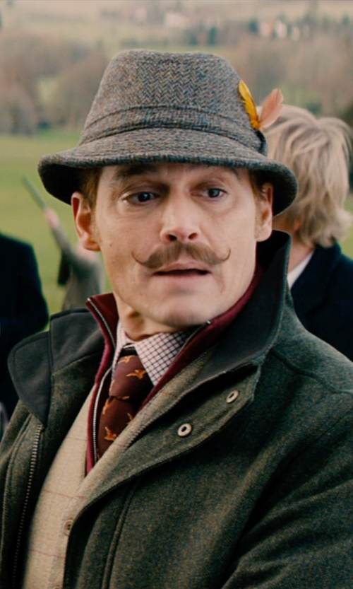 Johnny Depp with Eddie Bauer Kettle Mountain Jacket in Mortdecai