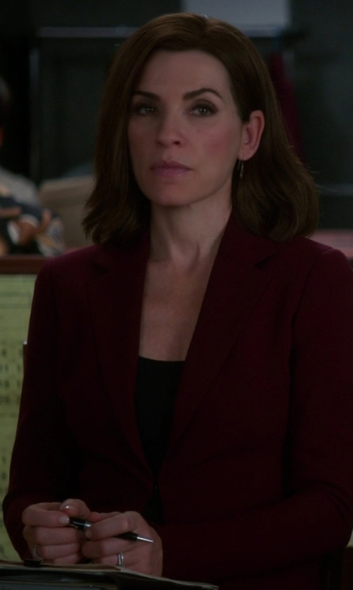 Julianna Margulies with Gianfranco Ferre Vintage Single Button Blazer in The Good Wife
