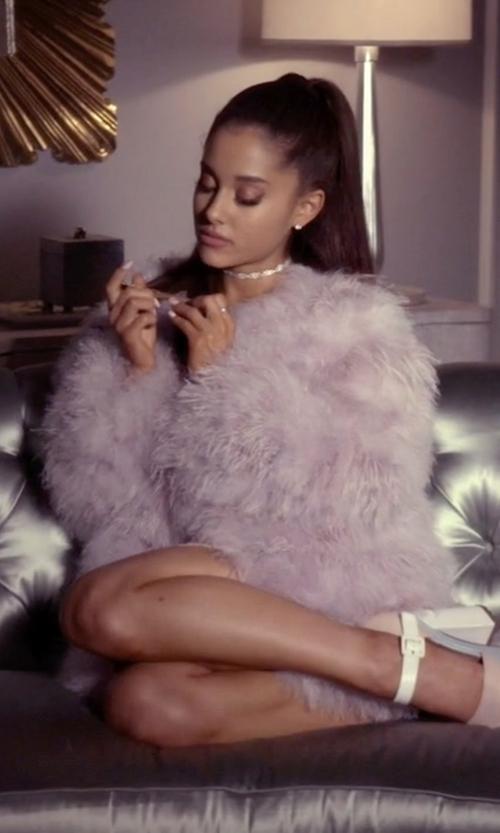Ariana Grande with Drome Reversible Coat in Scream Queens