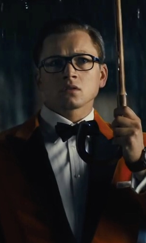 Taron Egerton with Finamore Napoli Sportcoat in Kingsman: The Golden Circle