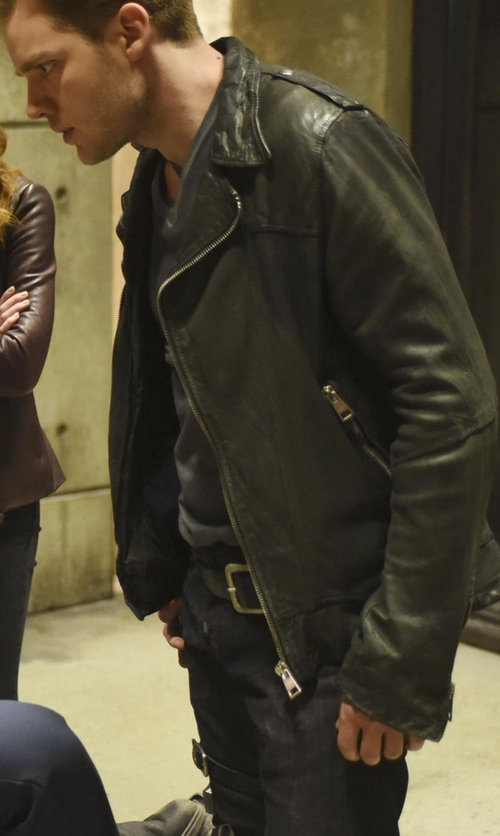 Dominic Sherwood with Urban Outfitters UO Beatdown Leather Moto Jacket in Shadowhunters