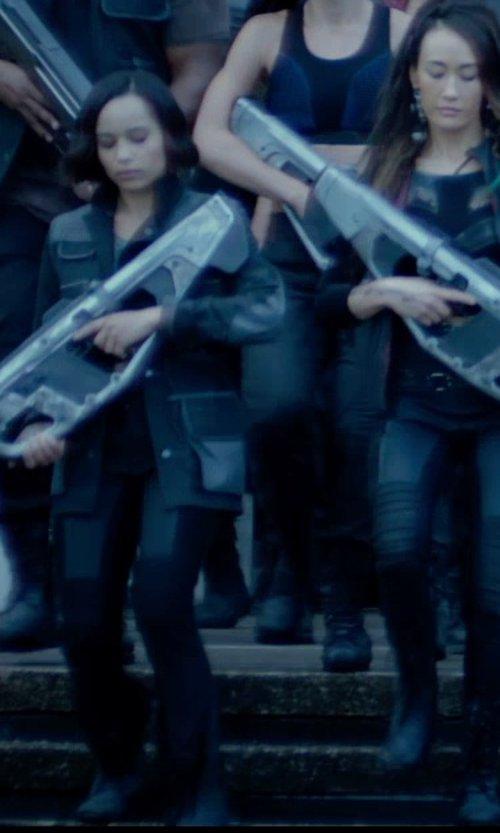 Zoë Kravitz with Carlo Poggioli (Costume Designer) Custom Made 'Dauntless' Battle Uniform Jacket (Christina) in The Divergent Series: Insurgent