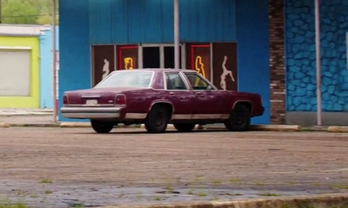 Jesse Eisenberg with Mercury 1962 Meteor Sedan in American Ultra