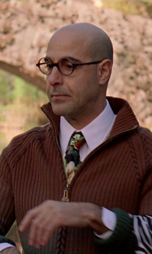 Stanley Tucci with Boss Hugo Boss Slim Fit Dress Shirt in The Devil Wears Prada