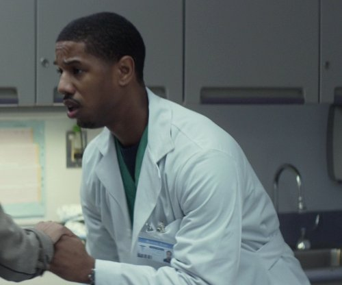 Michael B. Jordan with Medelita Slim Fit Lab Coat in That Awkward Moment