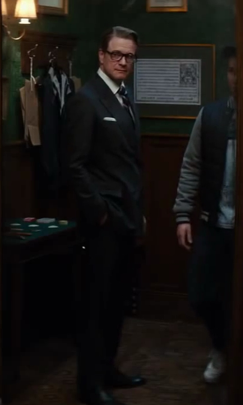 Colin Firth with George Cleverley Leather Oxford Shoes in Kingsman: The Secret Service