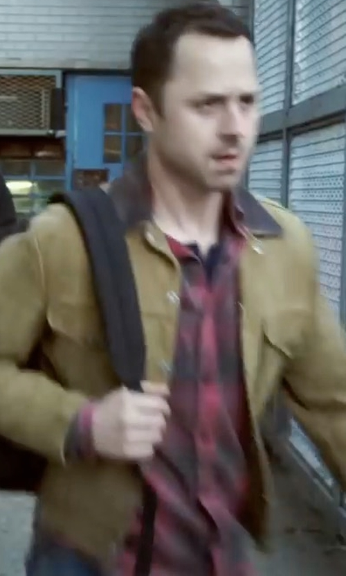 Giovanni Ribisi with True Religion Western Plaid Long-Sleeve Shirt in Sneaky Pete