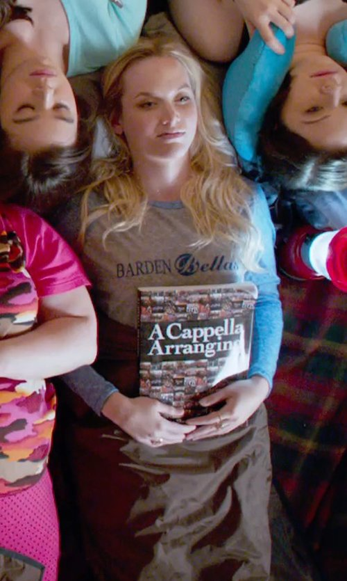 Kelley Jakle with Cafe Press Barden Bellas Baseball Jersey in Pitch Perfect 2