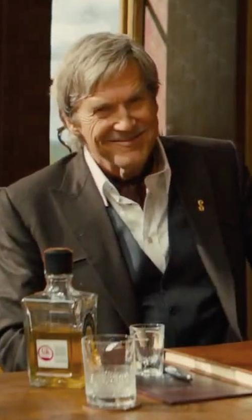 Jeff Bridges with Kingsman Champ's Statesman Wool Western Jacket in Kingsman: The Golden Circle