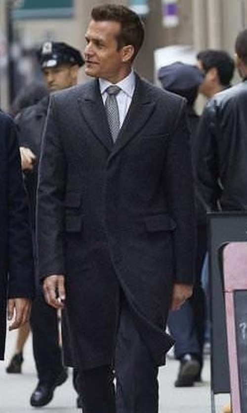 Gabriel Macht with Tom Ford Wool Three-Button Coat in Suits