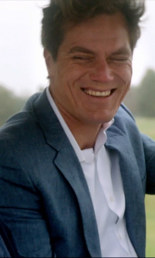Michael Shannon with Vince Camuto Plaid Slim-Fit Suit in 99 Homes