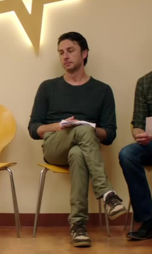 Zach Braff with Micah Cohen Slim Fit Chinos in Wish I Was Here