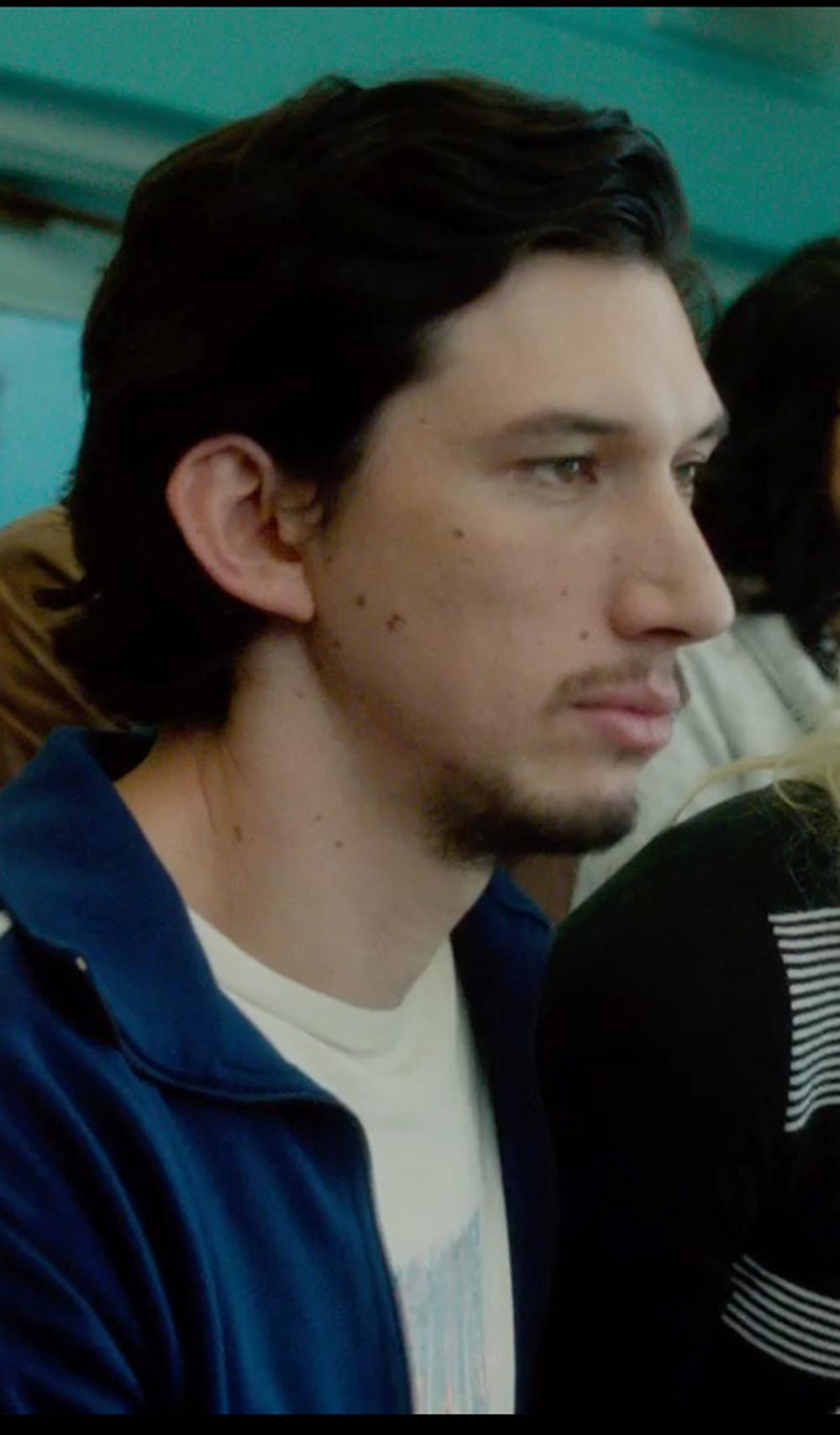 Adam Driver with Apolis Crew Neck T-Shirt in What If