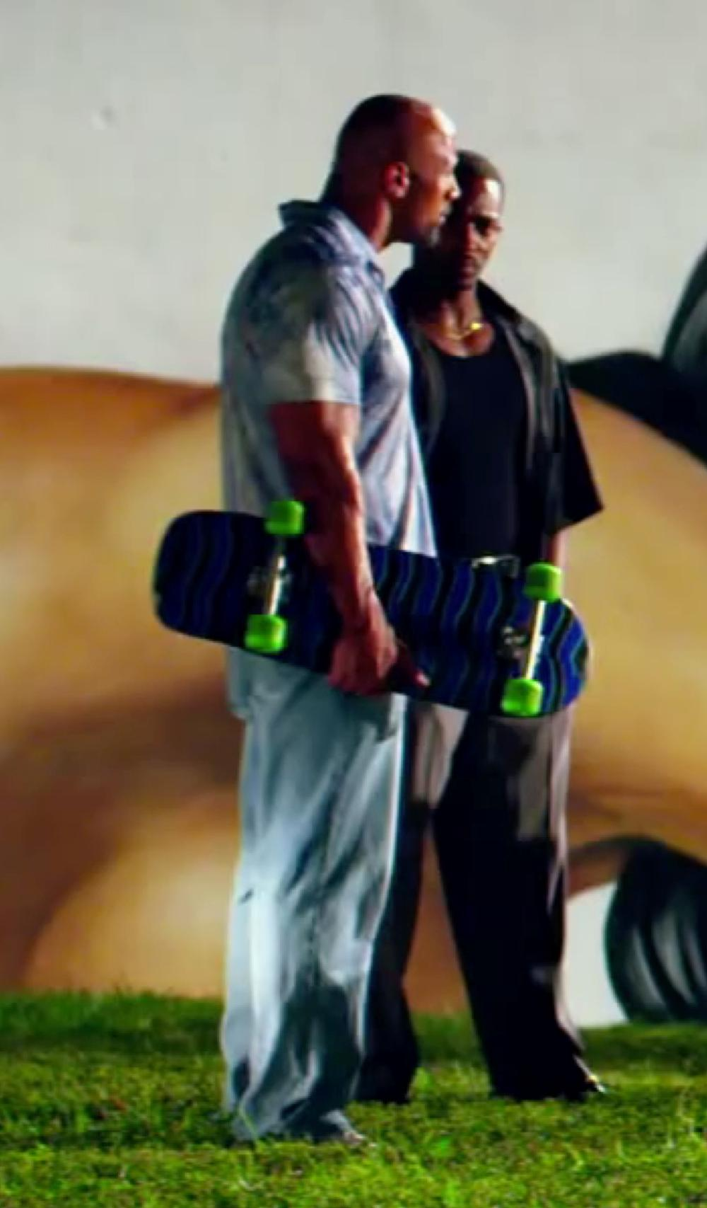 Dwayne Johnson with AG Adriano Goldschmied Graduate Tailored Jeans in Pain & Gain