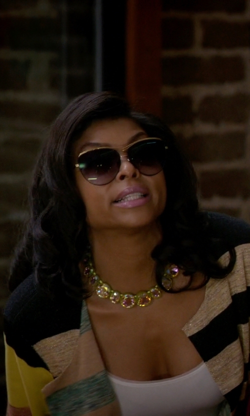 Taraji P. Henson with Henri Bendel On Point Crystal Collar in Empire