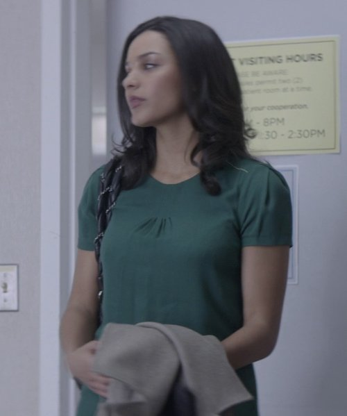 Jessica Lucas  with Apliiq 70s South Beach Cuff Tee Shirt in That Awkward Moment