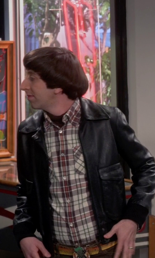 Simon Helberg with Barbour Castleford Shirt in The Big Bang Theory