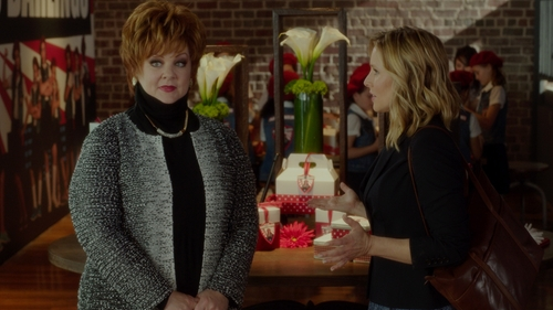 Melissa McCarthy with Joe Fresh Ribbed Knit Turtleneck in The Boss