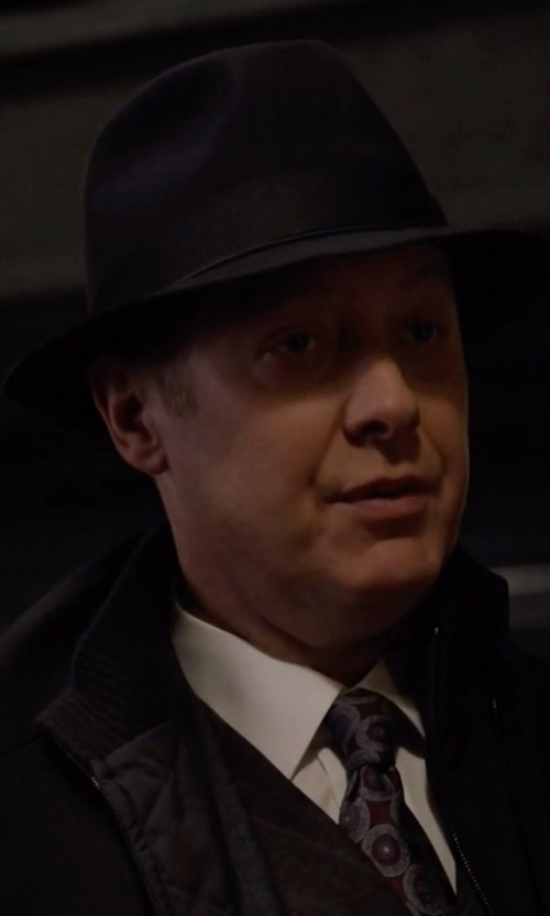 James Spader with Brixton 'Wesley' Wool Fedora Hat in The Blacklist