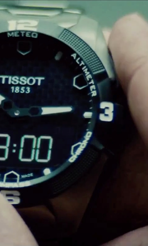 Simon Pegg with Tissot T-Touch Expert Solar Men's Quartz Chronograph Black Dial Watch in Mission: Impossible - Rogue Nation