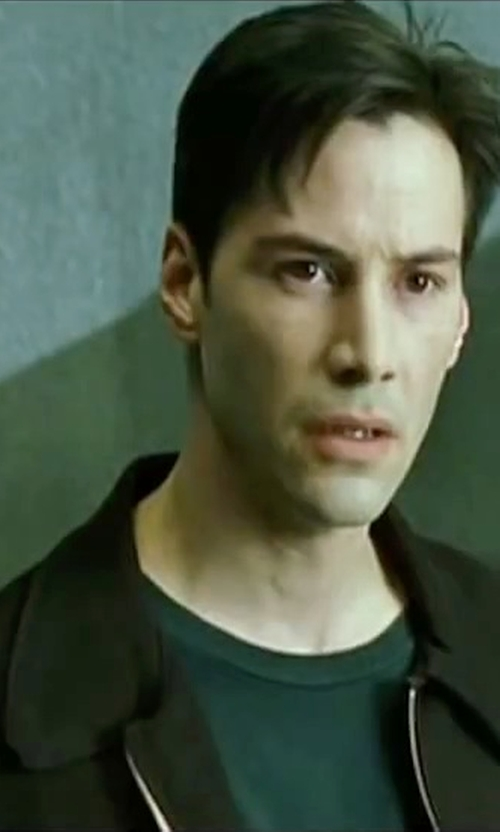 Keanu Reeves with Perry Ellis EP822203 Full Zip Jacket in The Matrix
