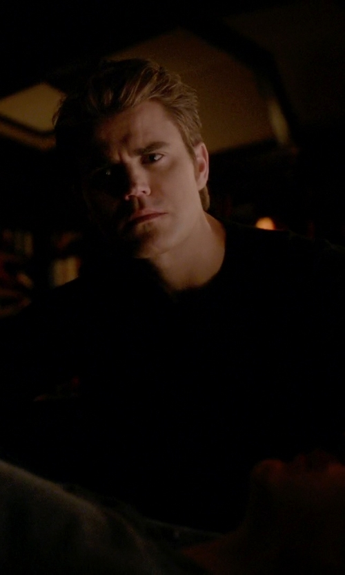 Paul Wesley with Laneus Crew Neck Sweater in The Vampire Diaries