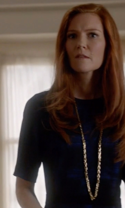Darby Stanchfield with Tiffany & Co. Chain Necklace in Scandal