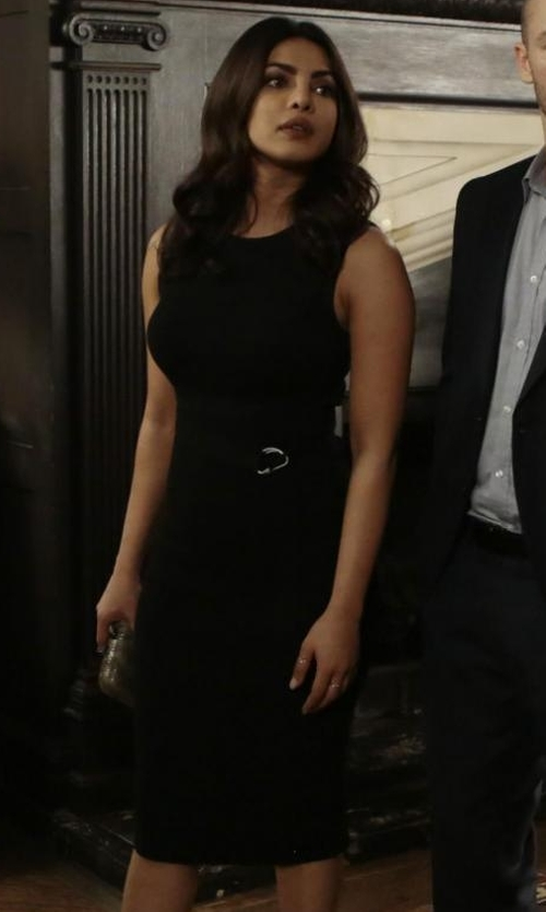 Priyanka Chopra with A.L.C. Thomas Dress in Quantico