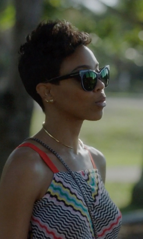 Jazmyn Simon with Lagos Caviar Small Hoop Earrings in Ballers