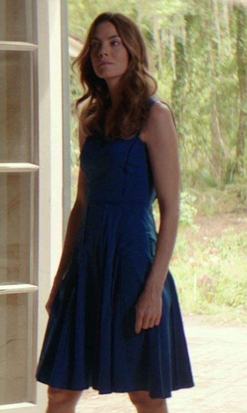 Michelle Monaghan with Derek Lam Sleeveless Dress With Full Skirt in The Best of Me