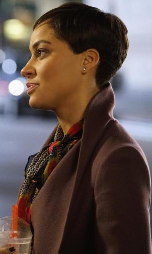 Cush Jumbo with Hoss Intropia Coat in The Good Fight