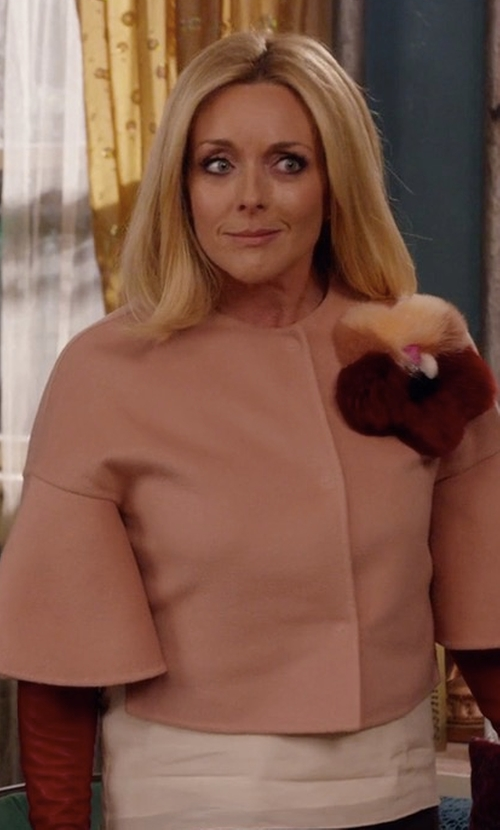 Jane Krakowski with Fendi Fur Appliqué Jacket in Unbreakable Kimmy Schmidt