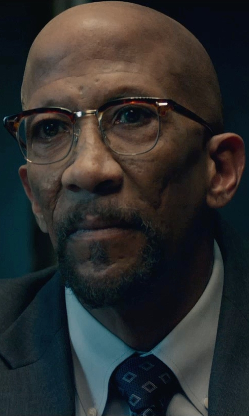 Reg E. Cathey with Ralph Lauren Silk Foulard Narrow Tie in Fantastic Four