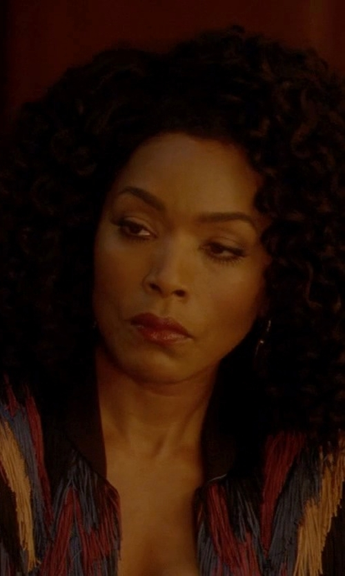 Angela Bassett with Tim Ryan Lurex Fringed Jacket in American Horror Story