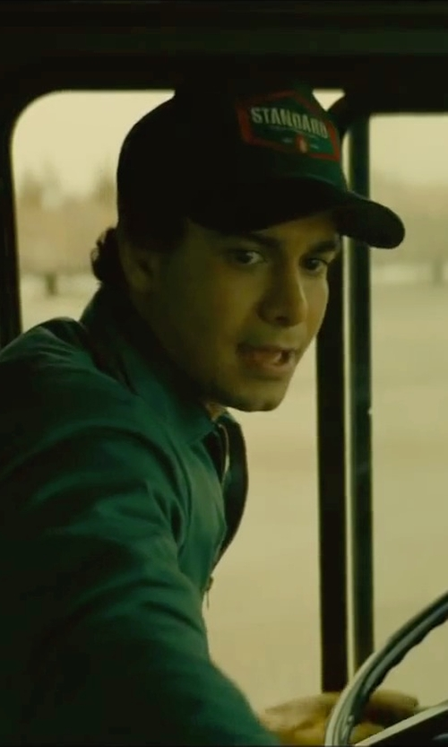 Elyes Gabel with DSquared2 Logo Cap in A Most Violent Year