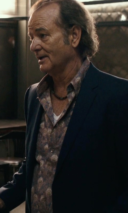 Bill Murray with Ralph Lauren Black Label Two-Button Daniel Sportcoat in Rock The Kasbah