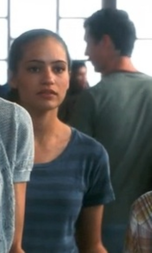 Analeigh Tipton with Stem High/Low Knit Tunic Top in Crazy, Stupid, Love.
