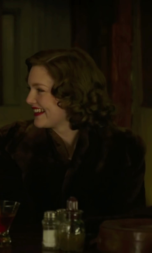 Holliday Grainger with Ovonzo Women's Sable Faux Fur Coat in The Finest Hours