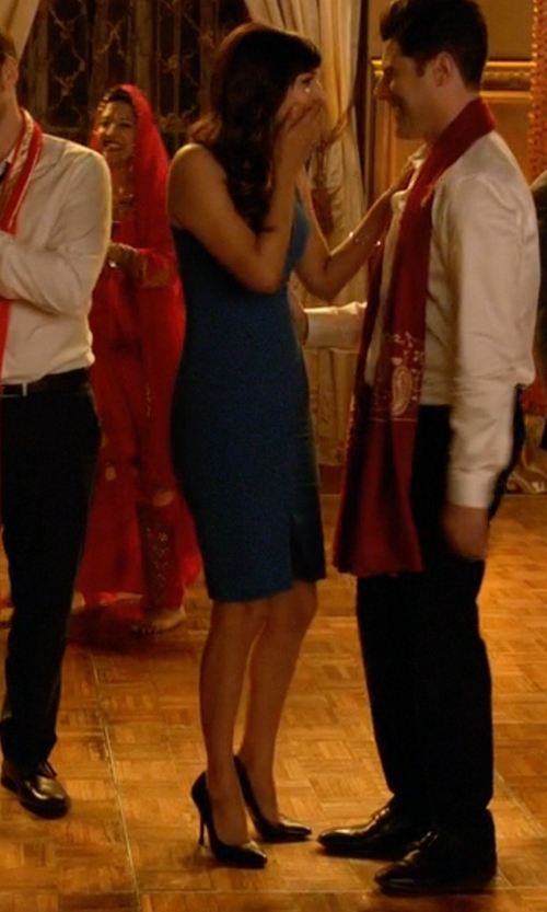 Hannah Simone with Cole Haan Bethany Pumps in New Girl