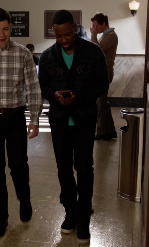 Lamorne Morris with Vans Sk8-Hi Reissue Zip Shoes in New Girl