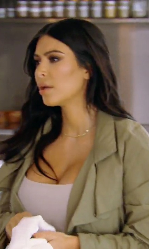Kim Kardashian West with Isabel Marant Belted Trench Coat in Keeping Up With The Kardashians