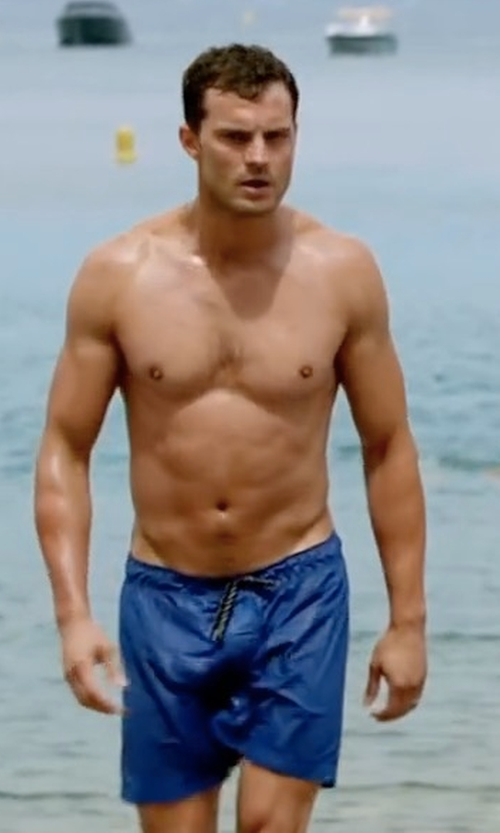 Jamie Dornan with Patagonia Wavefarer Board Shorts in Fifty Shades Freed