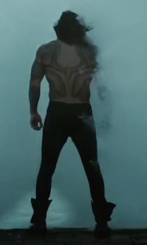 Jason Momoa with Polo Ralph Lauren Varick Slim-Straight Jeans in Justice League