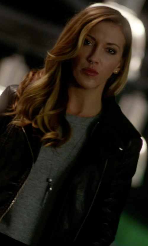Katie Cassidy with Mackage Yoana Jacket in Arrow
