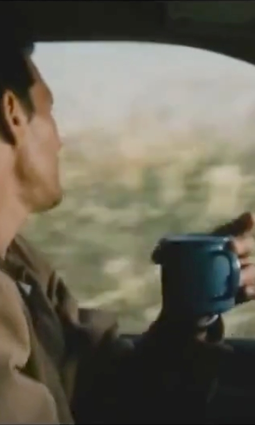 Matthew McConaughey with Gessner Melamine Kiwi Green Coffee Mug in Interstellar