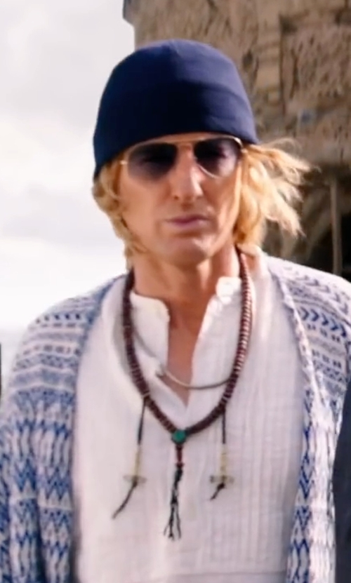 Owen Wilson with Saint Laurent Bead Necklace in Zoolander 2