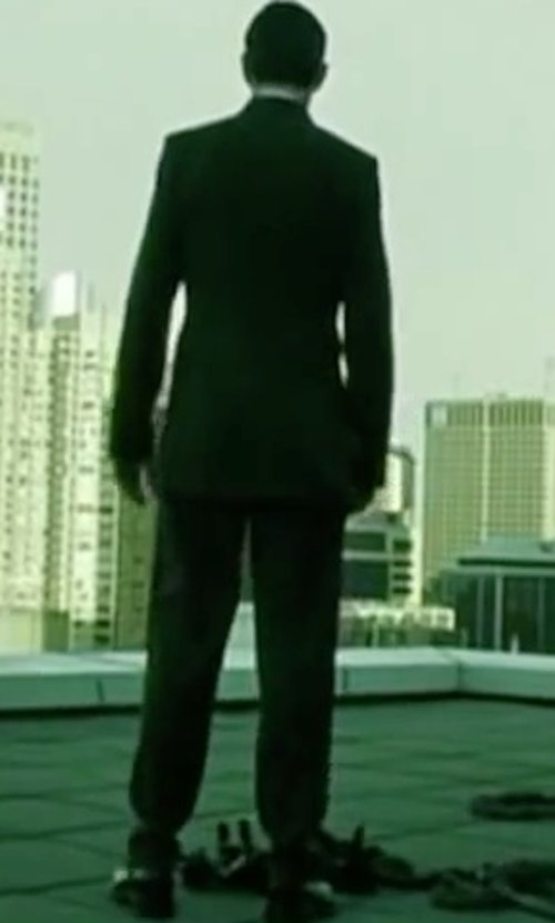 Hugo Weaving with Magnanni 'Hiro' Cap Toe Oxford Shoes in The Matrix